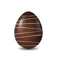 chocolate egg isolated on white background vector image