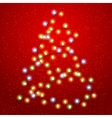 Christmas tree lights background vector image