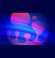 colorful background with 3d fluid objects vector image vector image