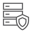 database protection line icon server and security vector image