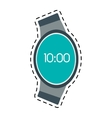 digital smart watch time screen line vector image