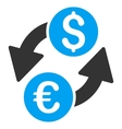Euro Dollar Exchange Flat Icon vector image