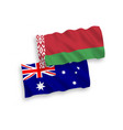flags australia and belarus on a white