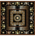 floral 3d greek panel pattern ornate vector image vector image