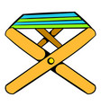folding chair icon icon cartoon vector image vector image