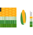 food patterns vegetable corn vector image