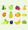 fruits vegetables healthy nutrition fruity vector image