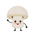 funny happy cute happy smiling mushroom vector image vector image