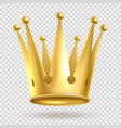 golden crown elegant gold metal royal crowning vector image