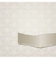 Gray background with torn paper vector image