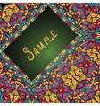 Greeting card with floral ornament Ethnic paisley vector image vector image
