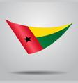 guinea-bissau flag background vector image vector image