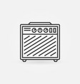 guitar amplifier icon in thin line style vector image