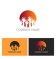 hands up community logo vector image vector image
