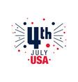 happy 4th july original emblem american vector image vector image