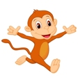 Happy monkey cartoon vector image vector image