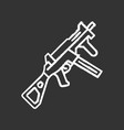hk ump weapon chalk icon virtual video game vector image vector image
