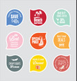 holiday vacation stickers and labels design 4 vector image vector image