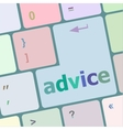 Hot keys for advice and support vector image vector image