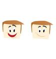 human face smiling emoticon vector image