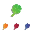 Leaf clover sign Colorfull applique icons set vector image vector image