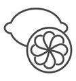 lemon icon in outline style vector image vector image
