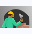 man working in the site vector image vector image
