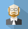 Modern Flat Design Businessman Icon vector image vector image