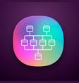 network diagram app icon cluster diagram vector image vector image