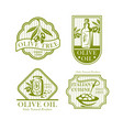 olive oil icons for olives product labels vector image vector image