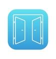 Open doors line icon vector image vector image