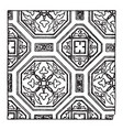 painting pattern found in the consistory church vector image vector image