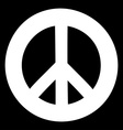 Peace sign Anti-war symbol on black background vector image vector image