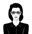 portrait a business woman a female boss vector image vector image