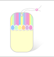 price tag with easter pattern vector image