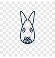 rabbit concept linear icon isolated on vector image