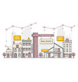 real estate business concept with houses flat vector image vector image