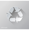 recycle flat icon design vector image vector image