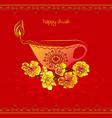 Red Happy Diwali Design vector image