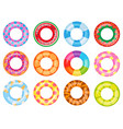 rubber swimming ring pink lifesaver summer vector image vector image