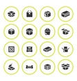 Set round icons of box vector image vector image