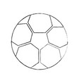 soccer ball sphere object equipment vector image