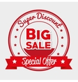 super discount big sale special offer star banner vector image