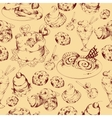 Sweets sketch seamless pattern vector image vector image