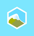 swiss mountain icon vector image vector image