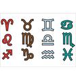 symbols of zodiak vector image vector image