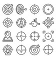 target icons set on white background line style vector image