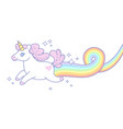 unicorn and rainbow vector image vector image