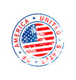 usa sign vintage grunge imprint with flag on vector image vector image