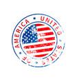 usa sign vintage grunge imprint with flag vector image